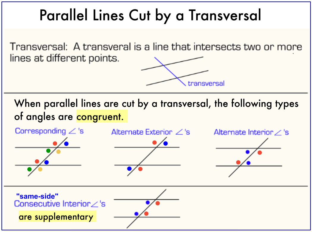 2 Parallel Lines And Transversals
