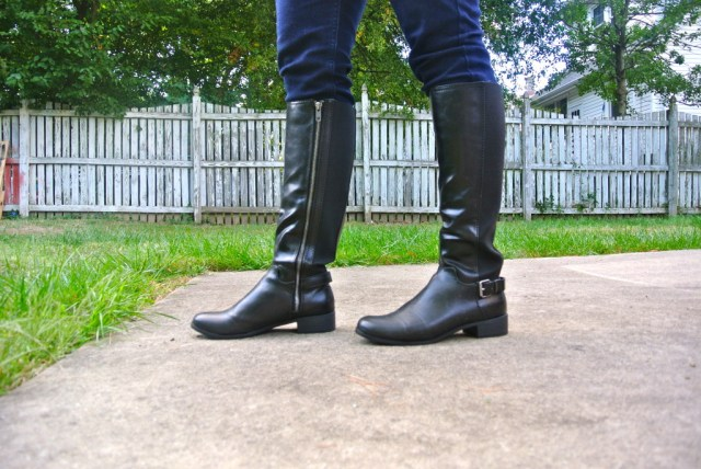 Tall Black Boots from Target