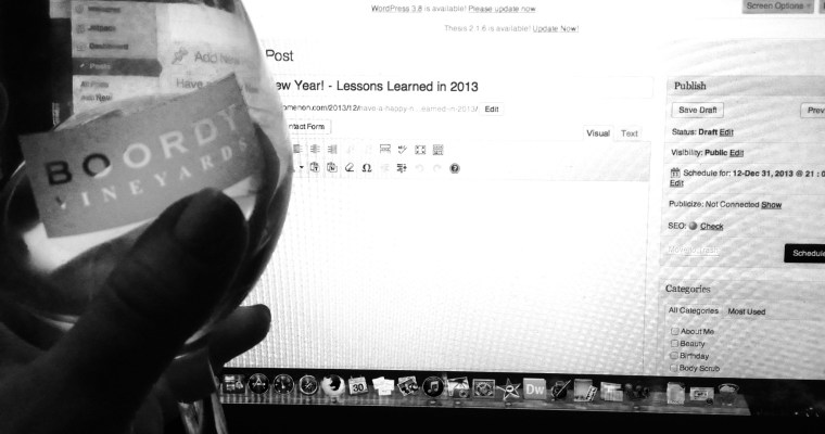 Have a Happy New Year! – Lessons Learned in 2013