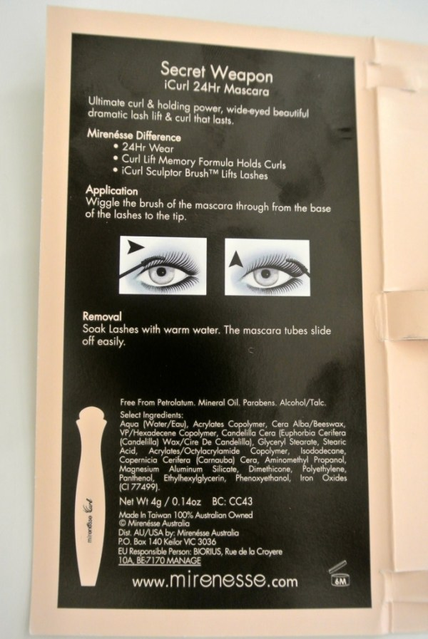 Mirenesse Secret Weapon iCurl 24Hr Mascara