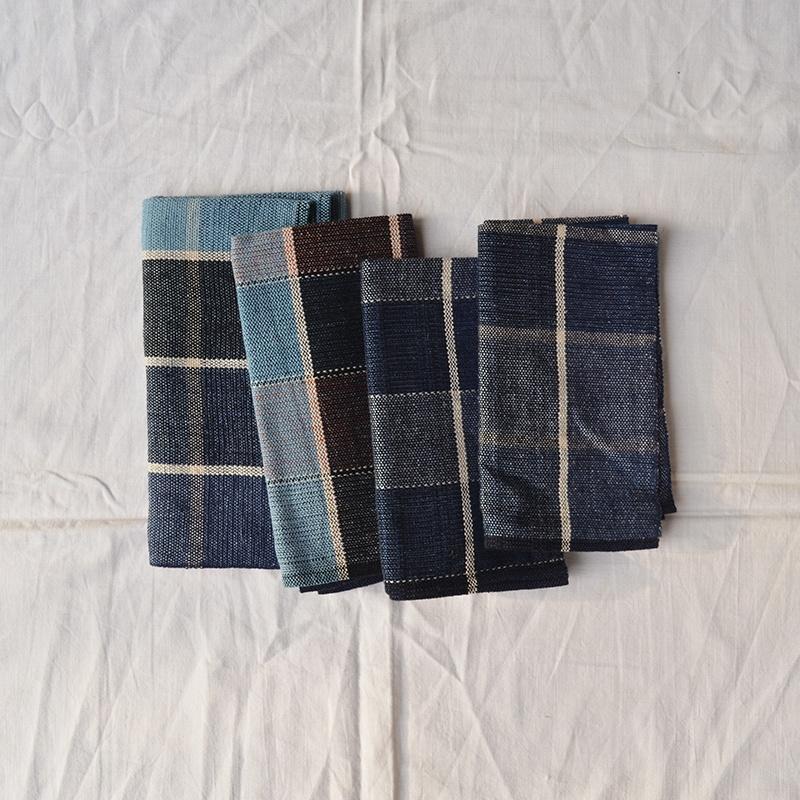 four handwoven cloths