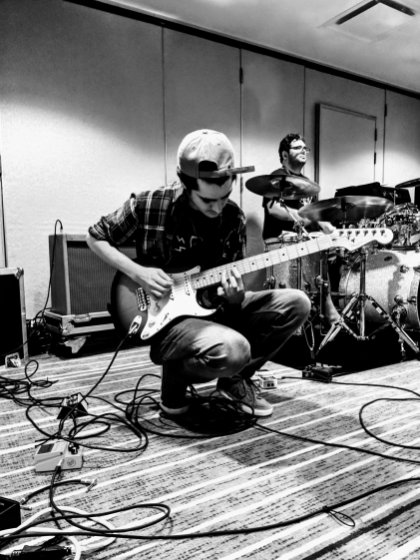 Jorge jamming away at practice