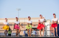AMANDA SABGA/ Staff photo Members of the Lawrence High School Dance Company perform during the Light up Lawrence event in celebration of the fourth of July at the Veterans Memorial Stadium. 7/3/15