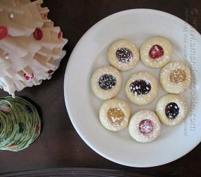 Thumbprint Cookies - easiest recipe ever! From Amanda's Cookin'