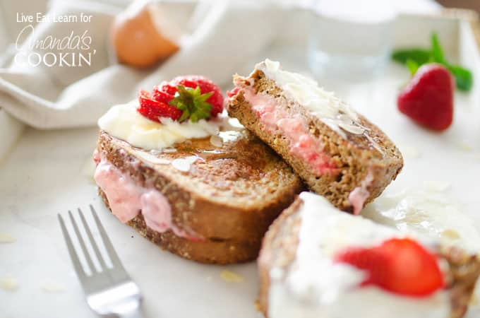 Strawberry Stuffed French Toast Strawberries And Cream