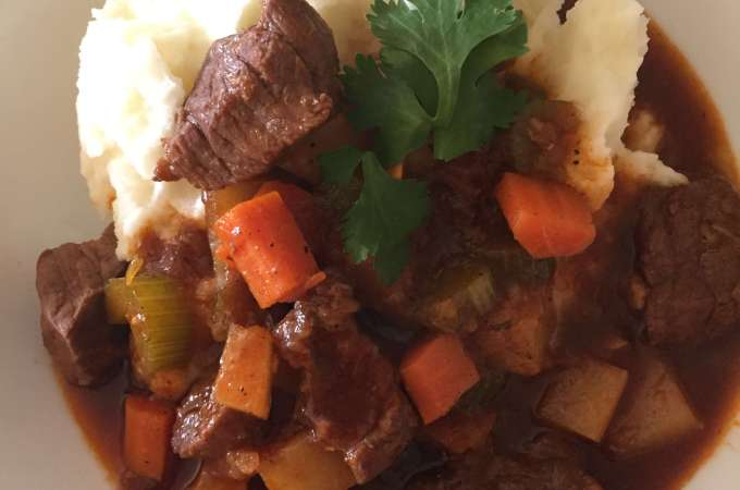 Beef Stew and Mashed Potatoes