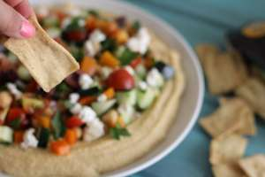 Loaded hummus, easy hummus, hummus and salad