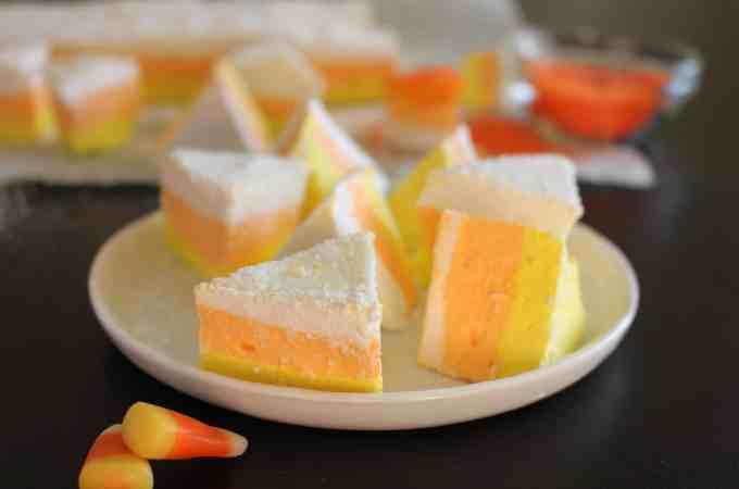 Homemade Candy Corn Marshmallows