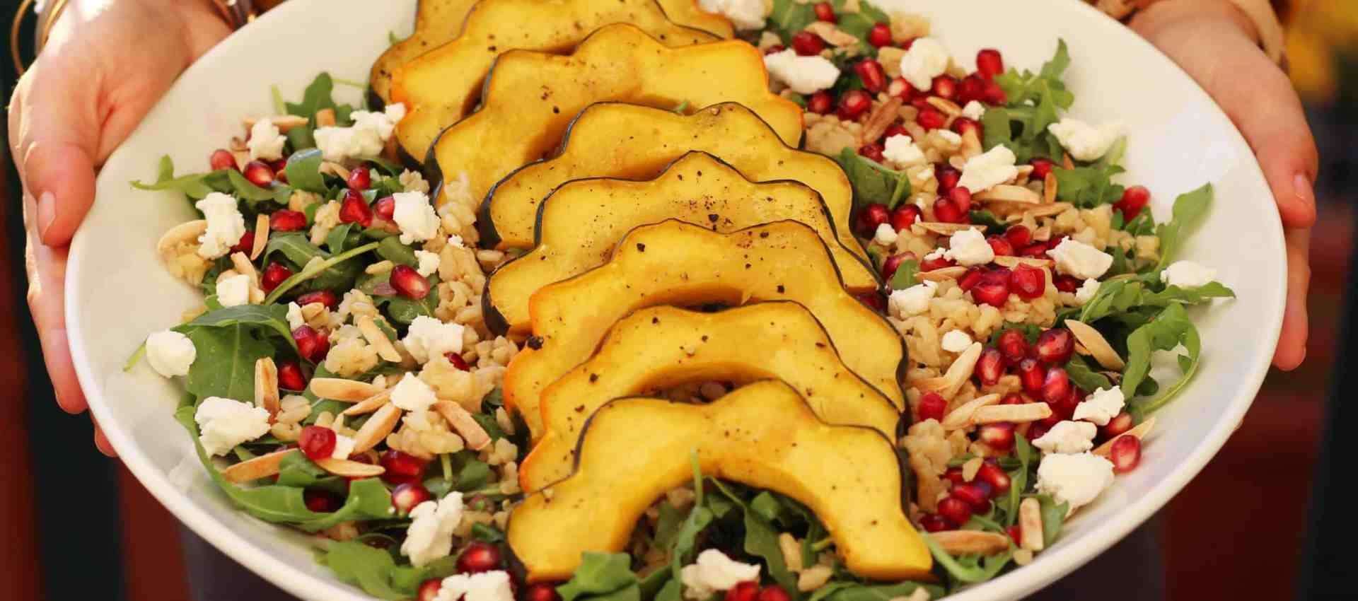 roasted acorn squash recipe, squash salad recipe, salad recipe, fall salad