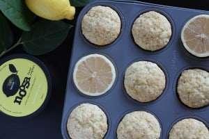 lemon poppy seed muffins, muffins, noosa yoghurt