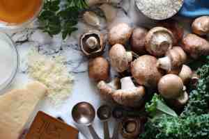 mushroom risotto, easy risotto recipe