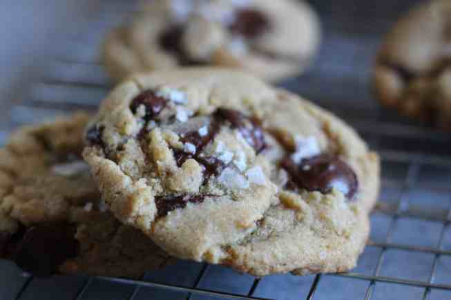 chocolate chip cookies, salted chocolate chip cookies, brown butter cookies