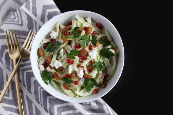 Fennel Apple and Pomegranate Salad
