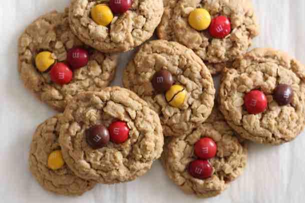 peanut butter oatmeal cookies, amanda's plate cookies