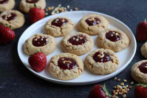 amandas plate peanut butter and jelly cookie