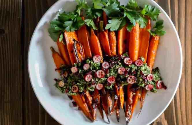 Amandas Plate carrot recipe with carrot pesto