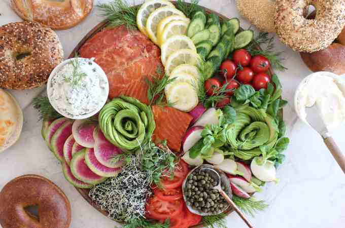 Smoked Salmon and Bagel Bar