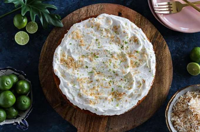 Coconut Key Lime Cake
