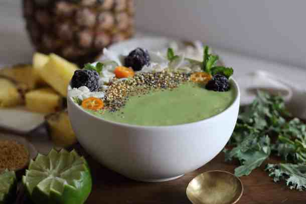 pina colada smoothie, green smoothie recipe