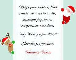 Cartão impresso - Promoção de vendas - brinde de fim de ano