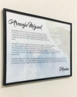 Quadro personalizado da oração do Arcanjo Miguel