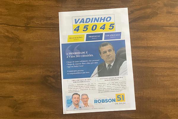 Informativo eleitoral - material impresso para campanha