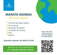 Convite Marista Idiomas - aula experimental