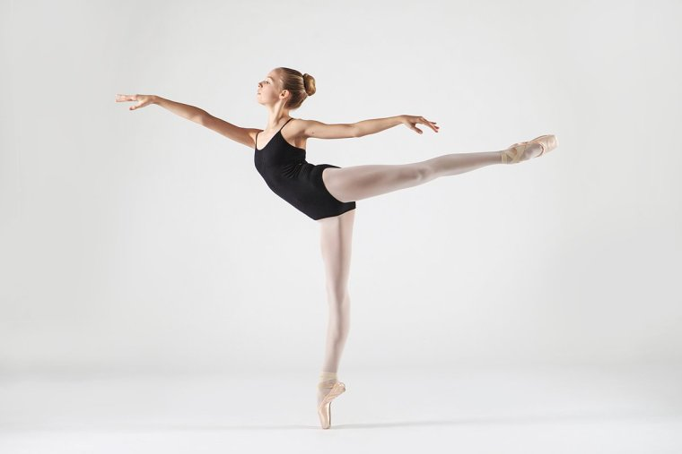 Ballerina in arabesque