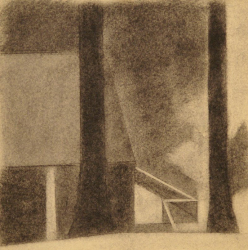 """charcoal on paper, 8""""x 8"""", 2012"""