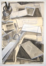 """graphite, charcoal, and conte on paper, 24""""x 14"""", 2012"""