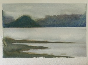 Sitka, Alaska, watercolor and gouache on paper, 2011