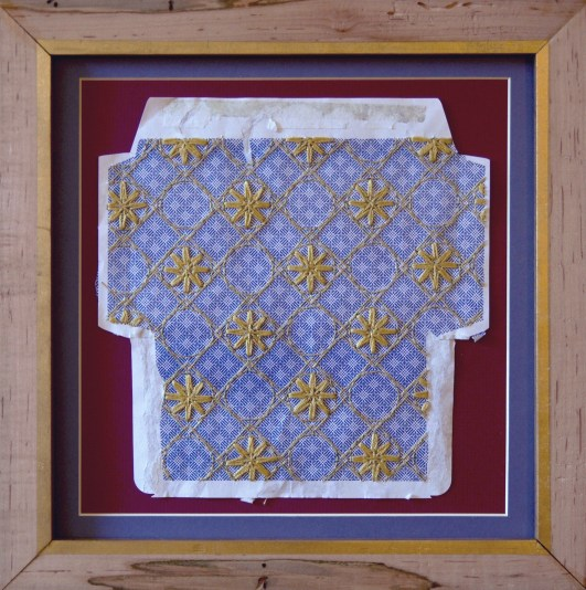 Giotto's House, silk thread on envelope, © Amanda Wagstaff 2015