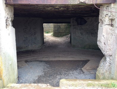 German bunker, Omaha Beach, Normandy, France