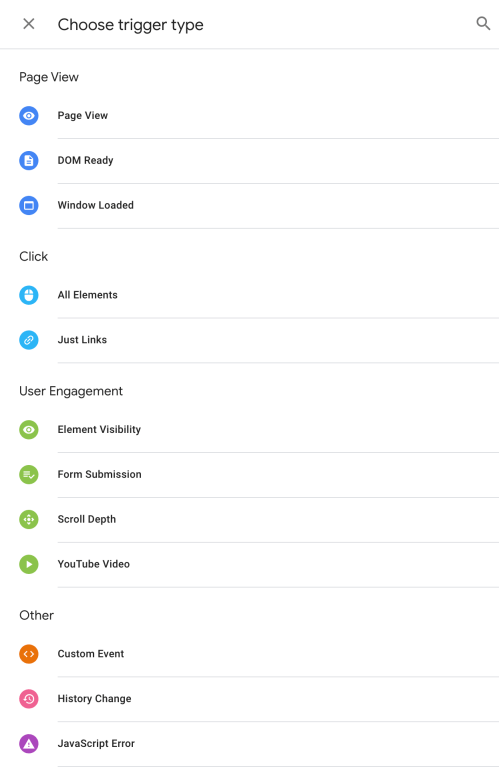 Google Tag Manager Trigger Examples