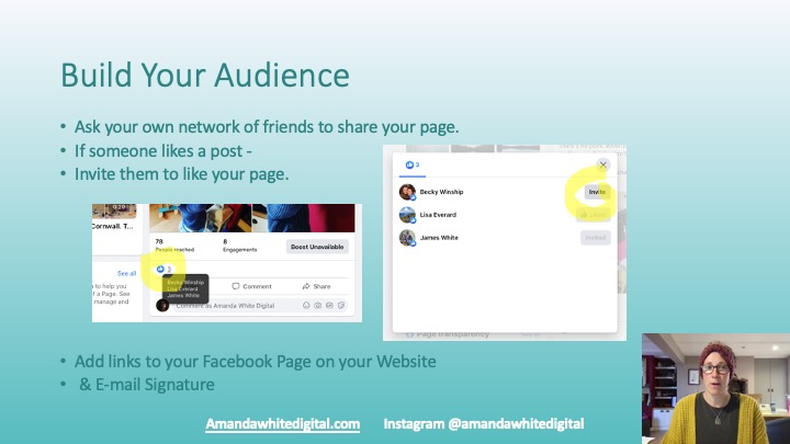 How to invite your post 'likes' to become page followers.