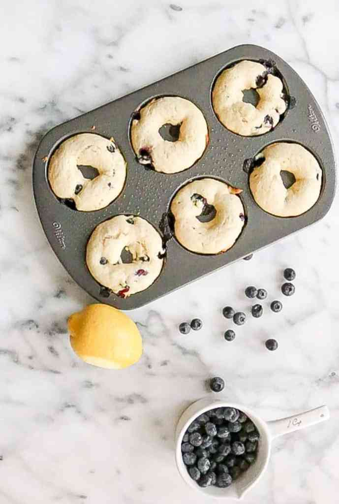 Baked Blueberry Lemon Donuts pre icing