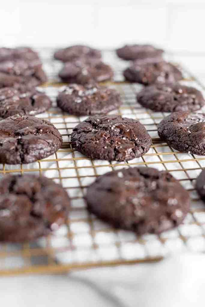 rack shot of cookies