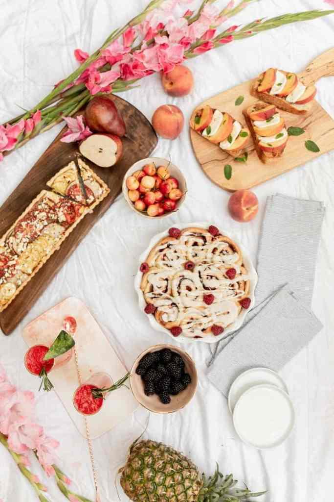 picnic spread overhead