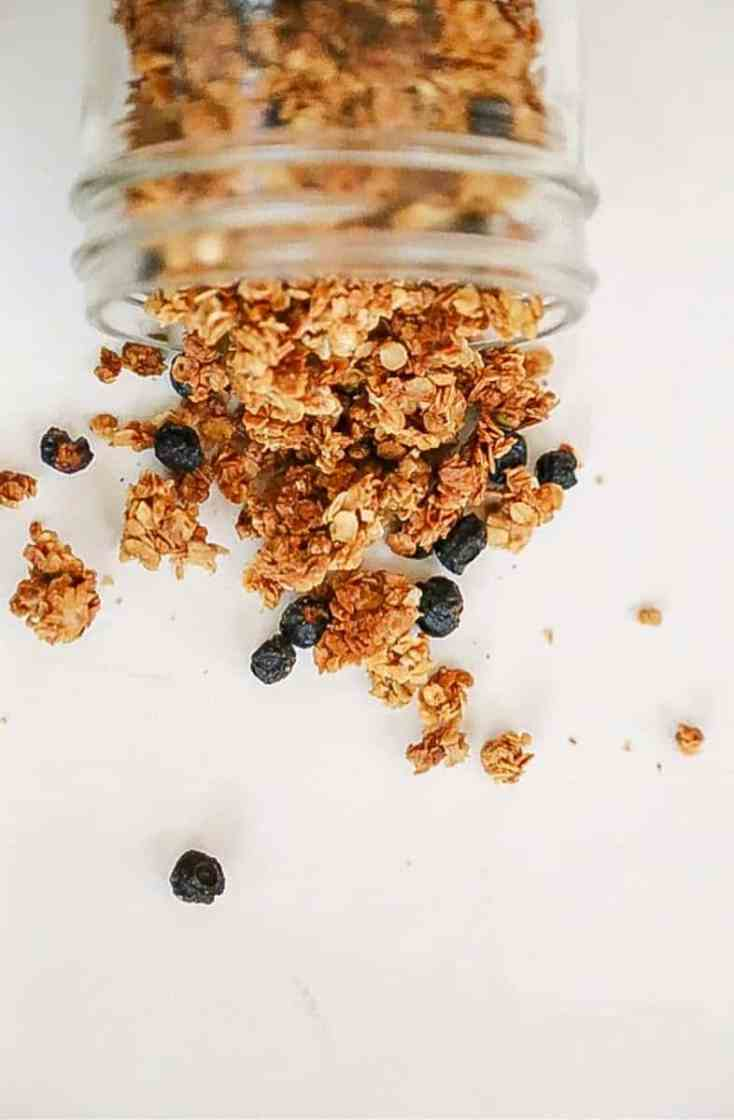homemade granola overhead