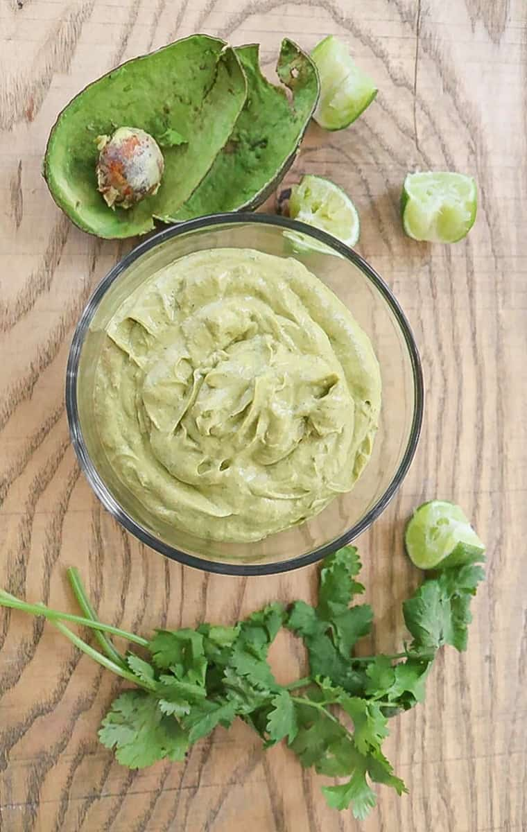 Spicy Cilantro Lime Avocado Sauce