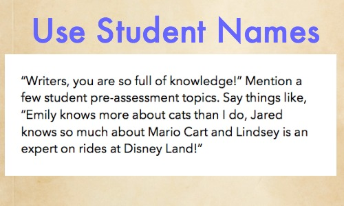Use Student Names