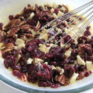 cake cranberries noix de pécan chocolat blanc