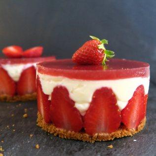 entremets fraise spéculoos