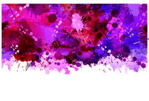 tâches de maquillage roses et violets