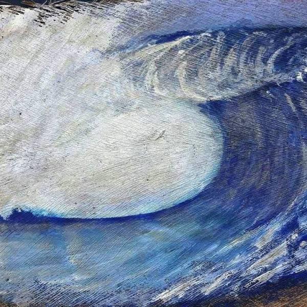 Teahupoo - Peinture sur kere
