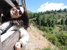 Mi vieja feliz en la Trochita