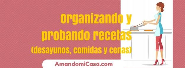 Organizando y probando recetas
