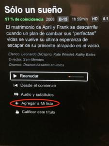 Mi lista de Netflix