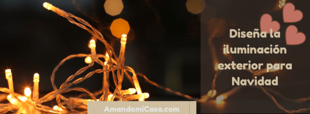 Iluminación exterior para Navidad
