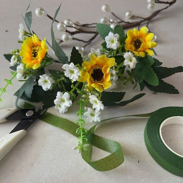 Resultado final flores blancas y girasol